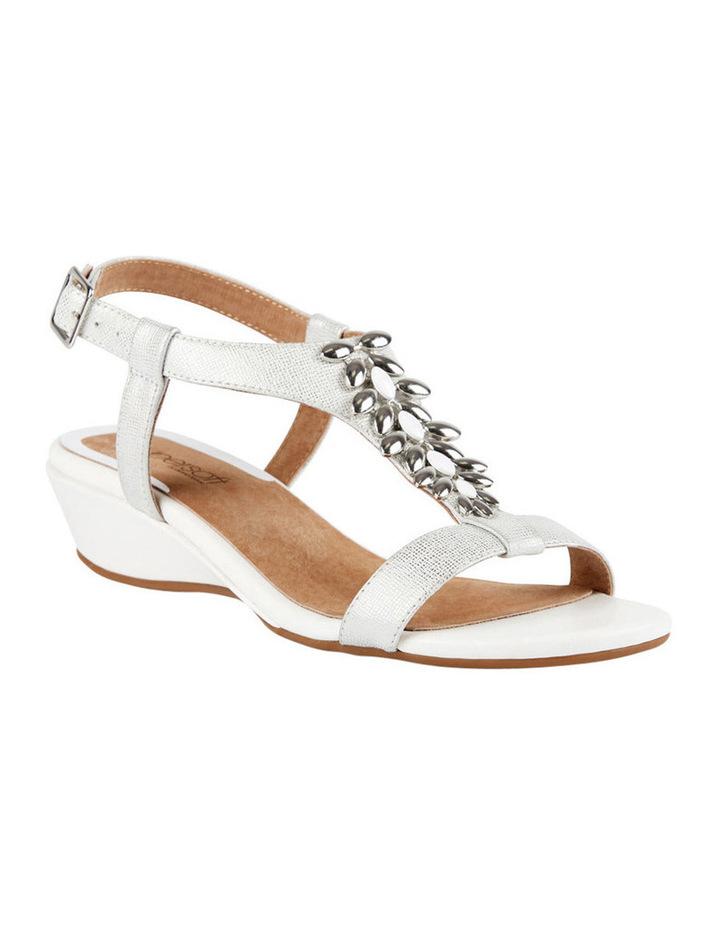 Cardin White Metallic Sandal image 3