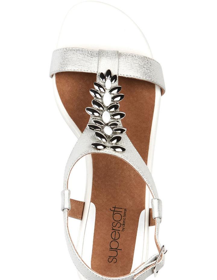 Cardin White Metallic Sandal image 5