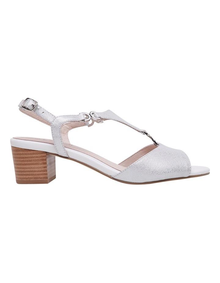 Cosmia White Metallic Sandal image 1