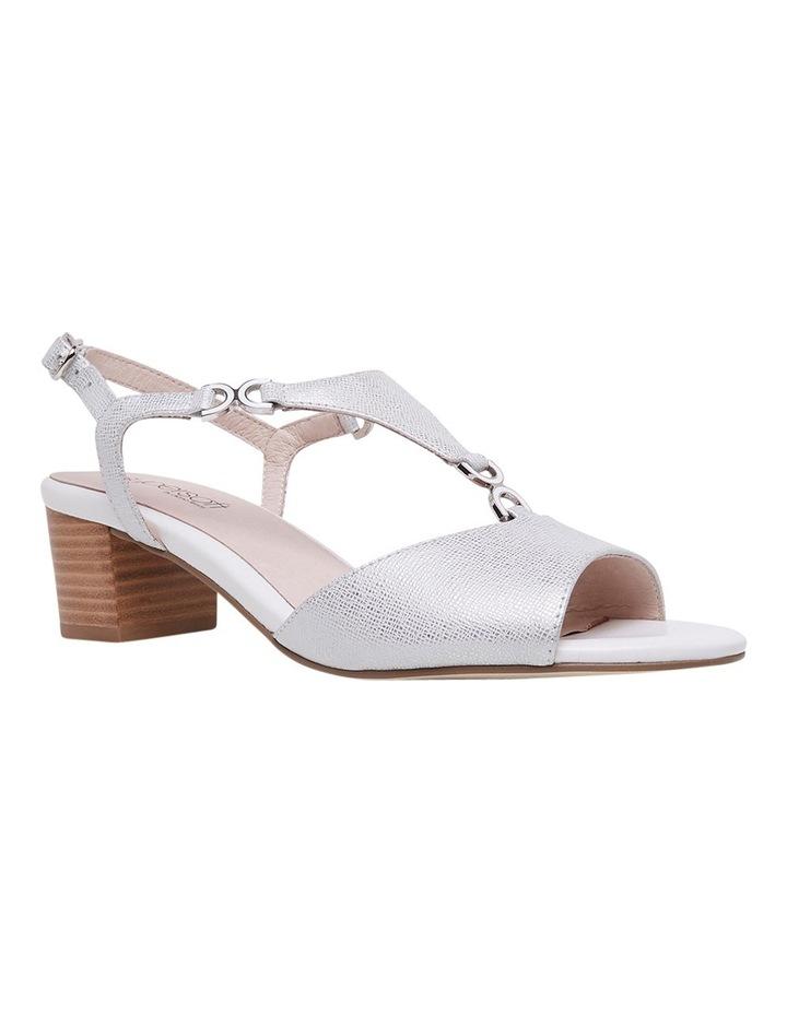 Cosmia White Metallic Sandal image 2