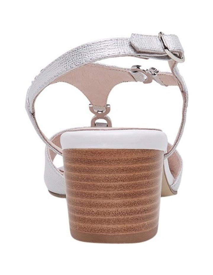 Cosmia White Metallic Sandal image 3