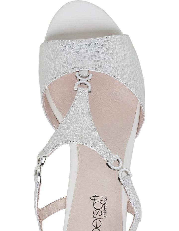 Cosmia White Metallic Sandal image 4