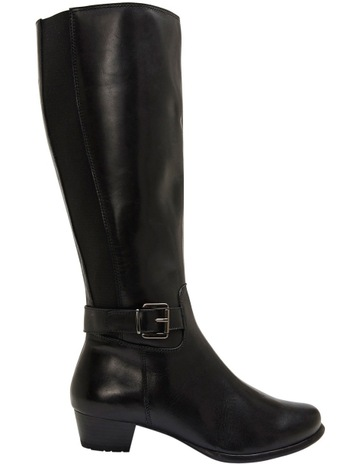 847d356f2a5 Wide Steps Diego Black Glove Knee Boot