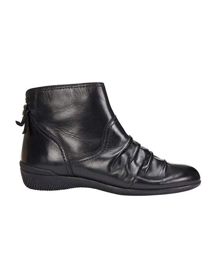 Waltz pleated leather black glove boot image 1