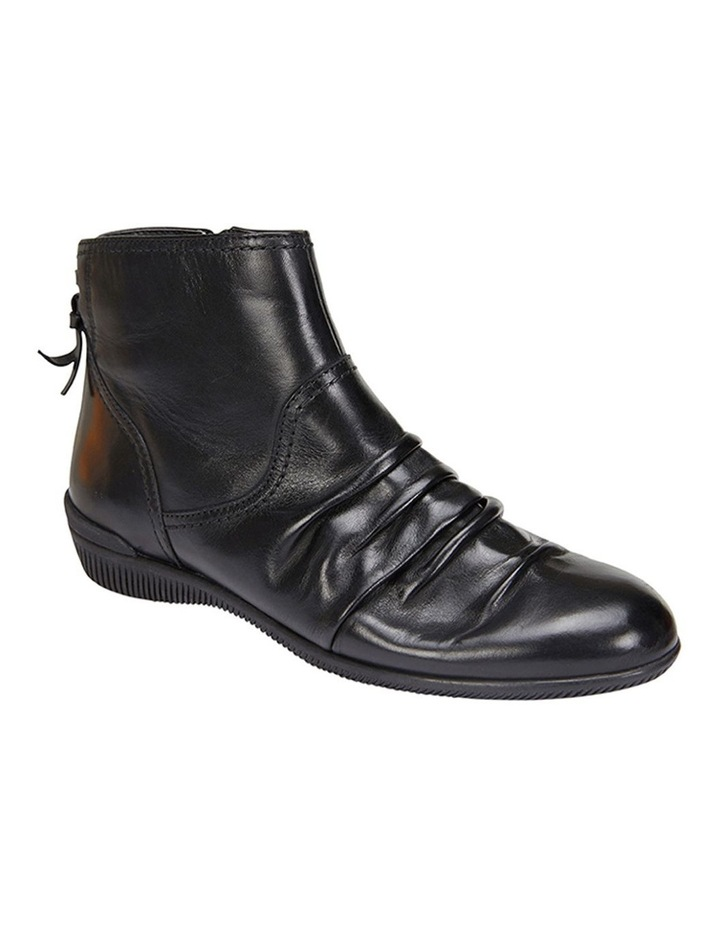 Waltz pleated leather black glove boot image 3