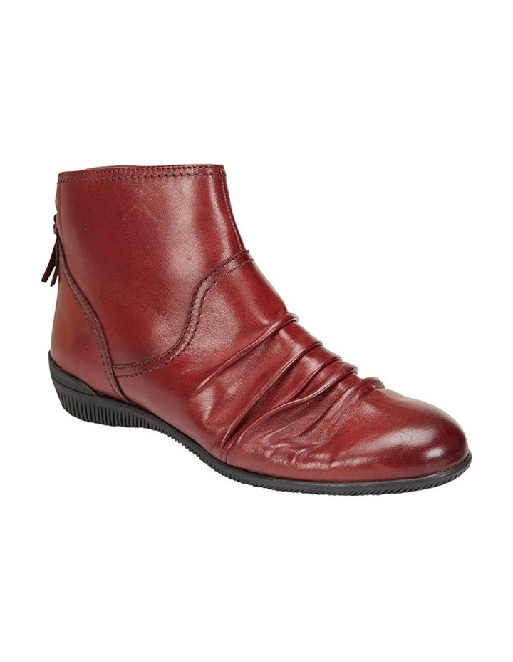 Waltz pleated leather red glove boot image 2