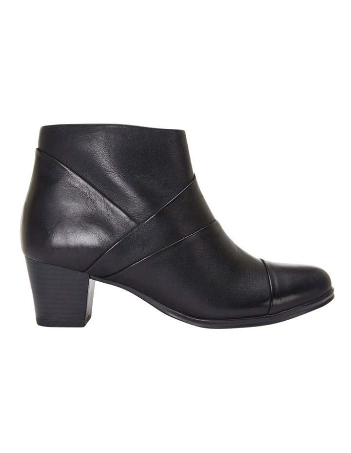 Marvin Pleated Leather Black Glove Boot image 1