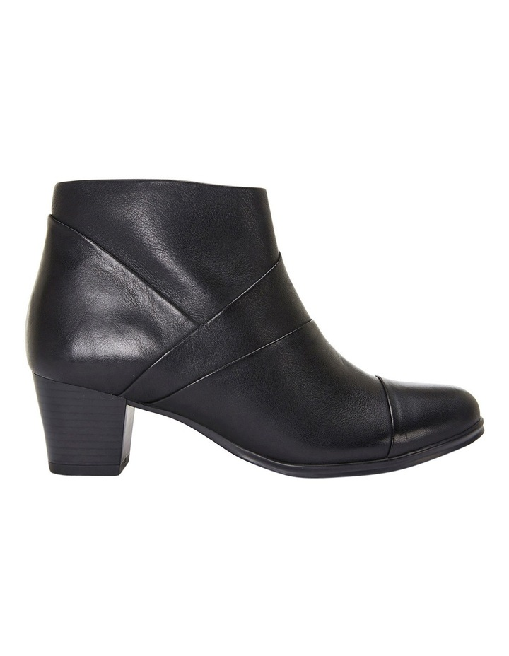 Marvin Pleated Leather Black Glove Boot image 2