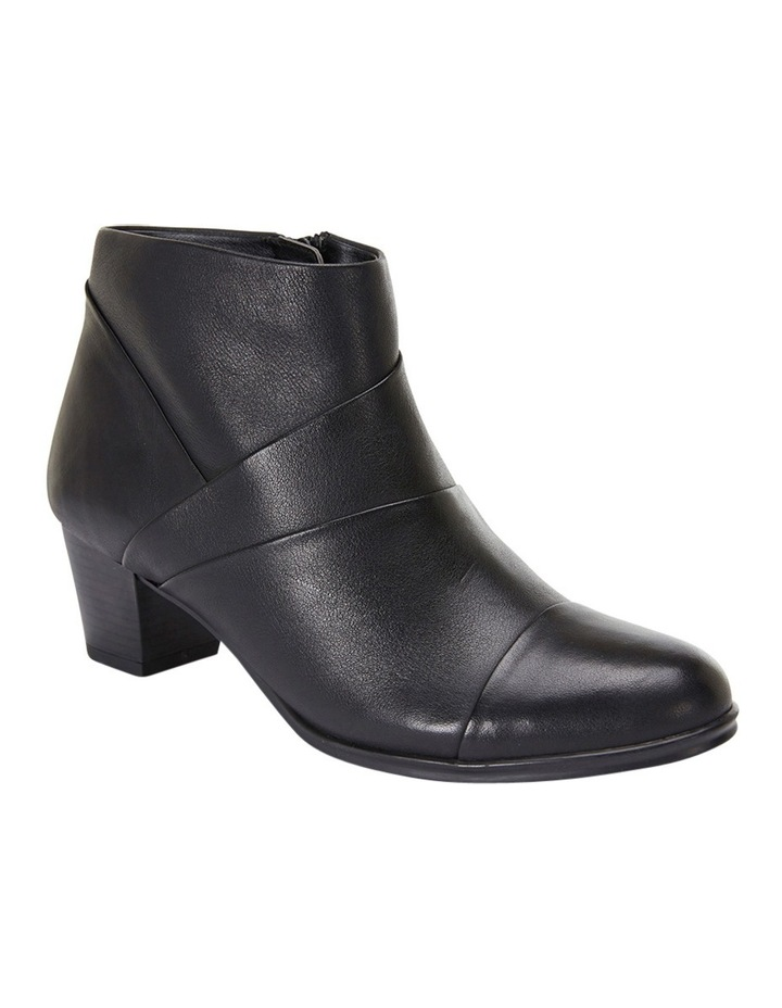 Marvin Pleated Leather Black Glove Boot image 4