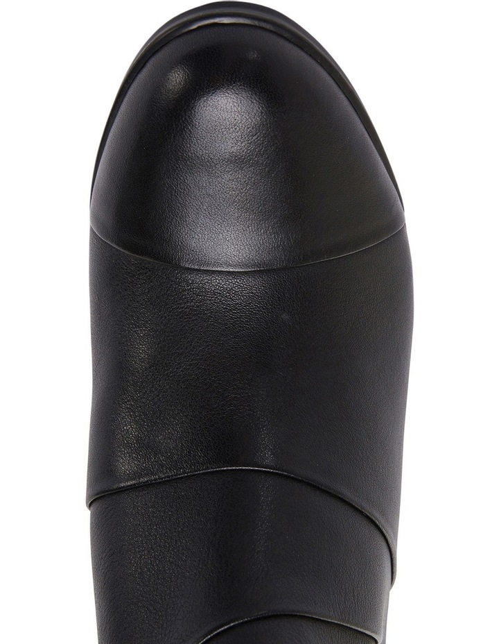 Marvin Pleated Leather Black Glove Boot image 6