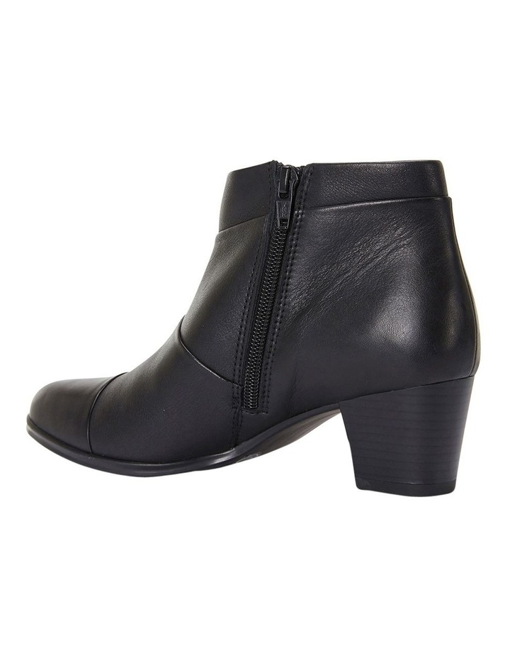 Marvin Pleated Leather Black Glove Boot image 7