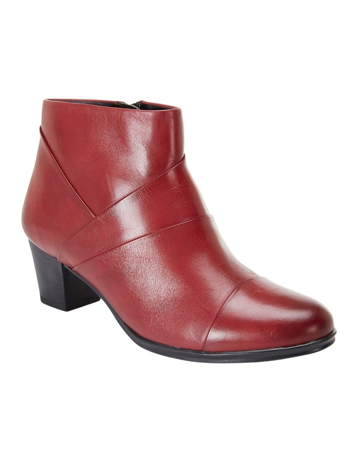 Marvin Pleated Leather Red Glove Boot image 2