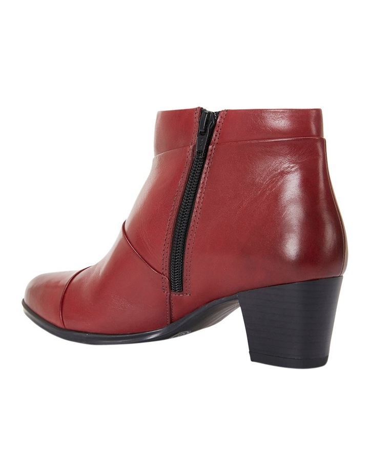 Marvin Pleated Leather Red Glove Boot image 4