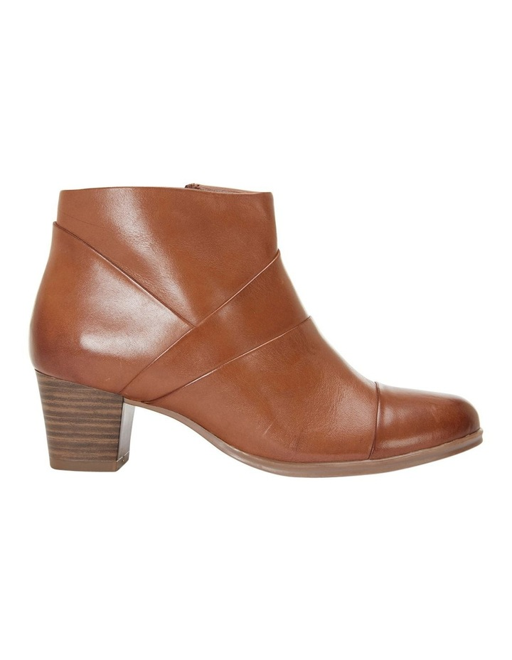 Marvin Pleated Leather Cognac Glove Boot image 1