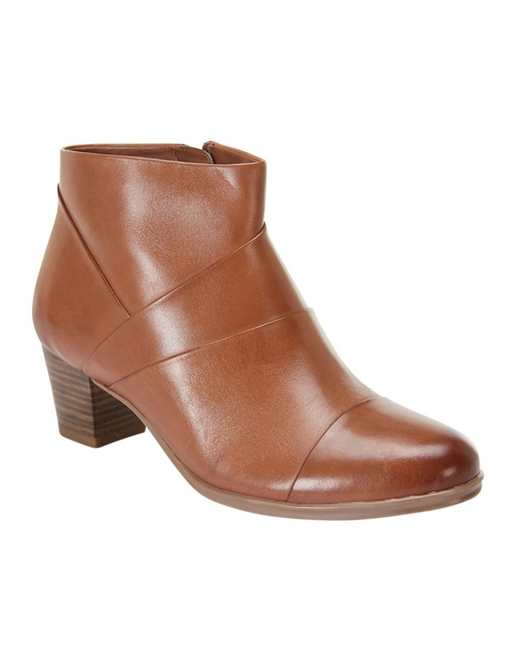 Marvin Pleated Leather Cognac Glove Boot image 2