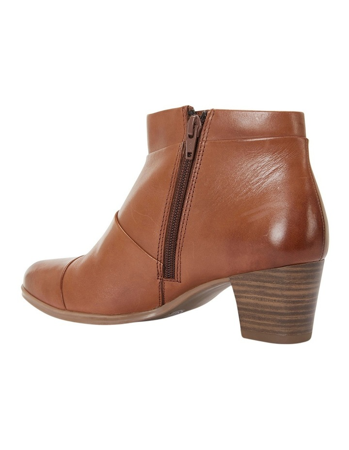 Marvin Pleated Leather Cognac Glove Boot image 4