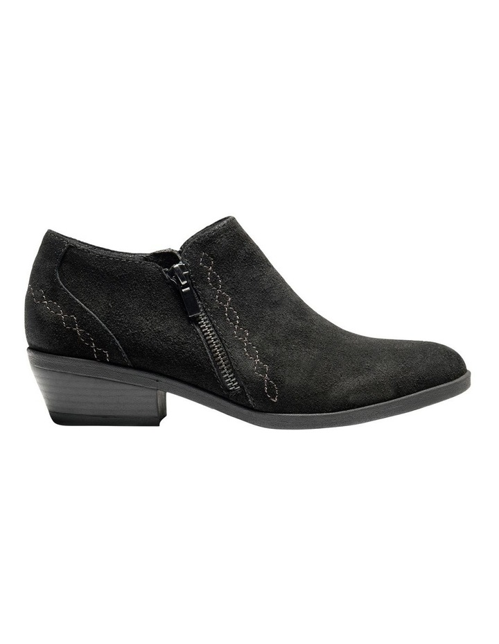 Caitlyn Black Leather Ankle Boot image 1