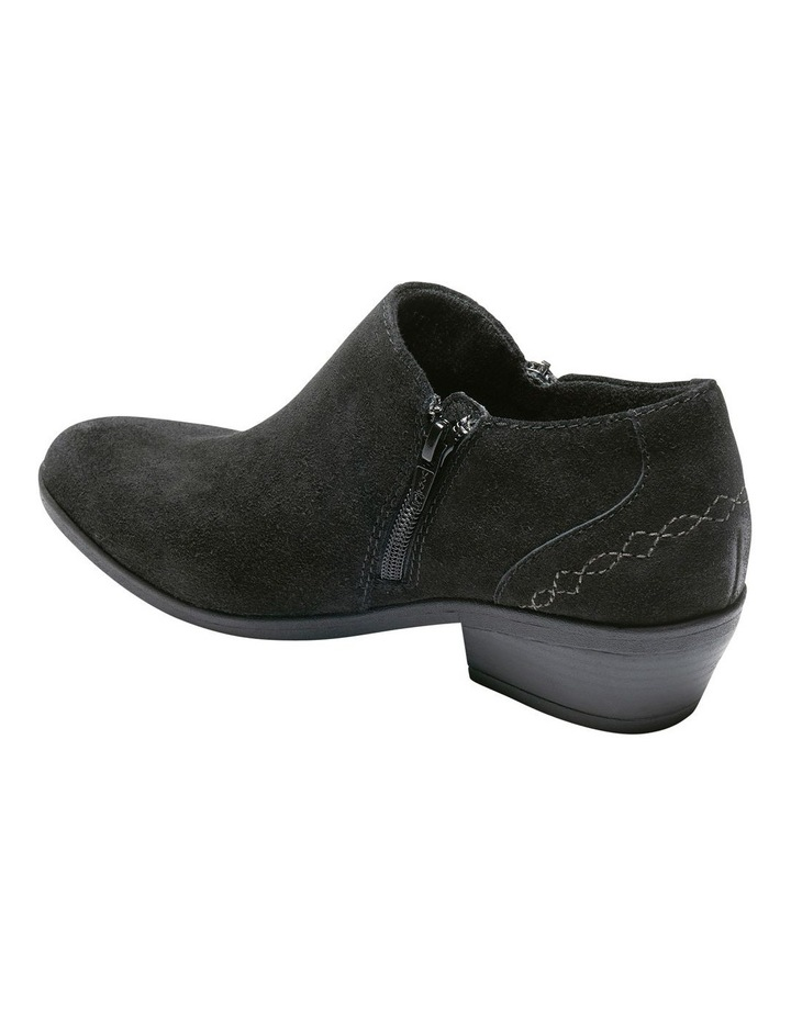 Caitlyn Black Leather Ankle Boot image 3