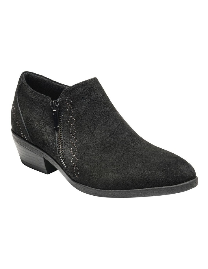 Caitlyn Black Leather Ankle Boot image 4