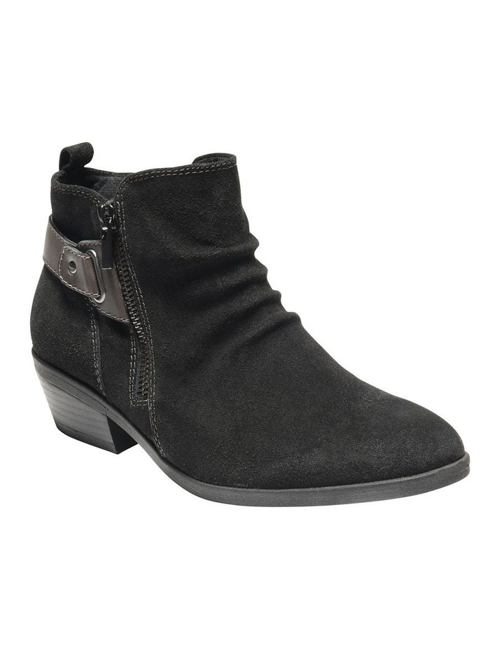 Callista Black Leather Ankle Boot image 1