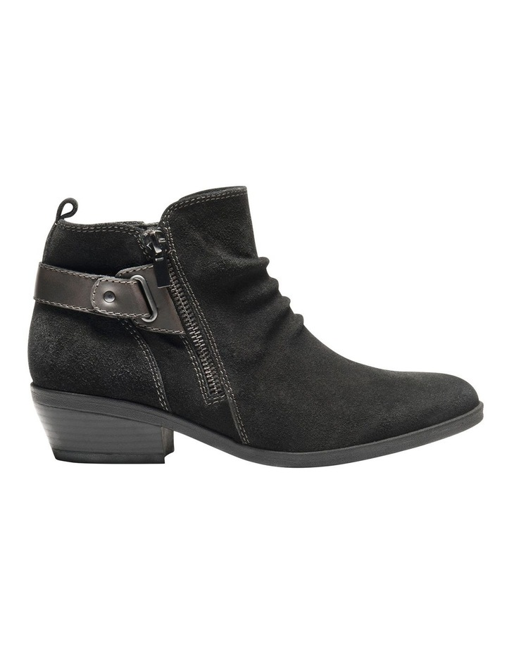 Callista Black Leather Ankle Boot image 2