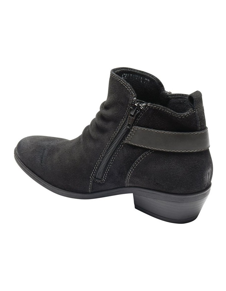 Callista Black Leather Ankle Boot image 3