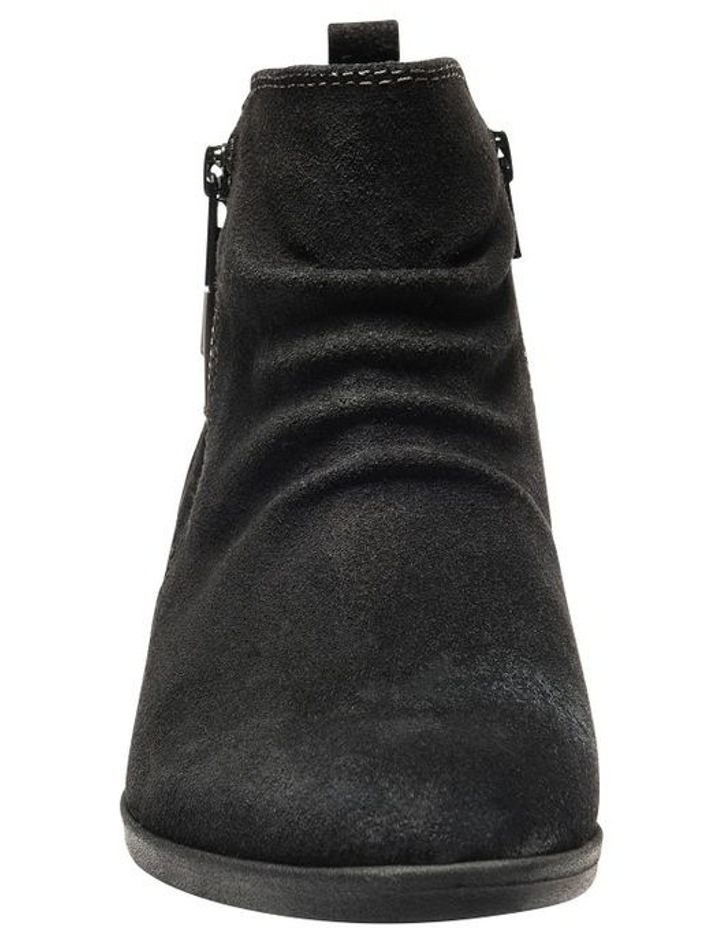 Callista Black Leather Ankle Boot image 4