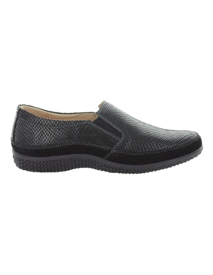 Just Bee Clarice Black Lizard Loafer image 1