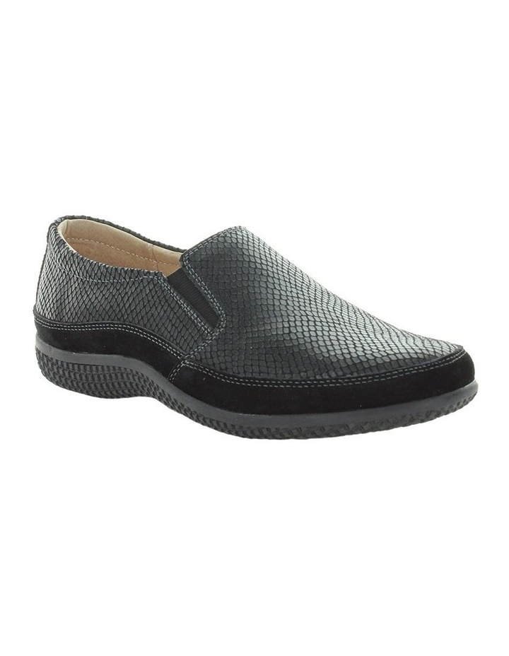 Just Bee Clarice Black Lizard Loafer image 2