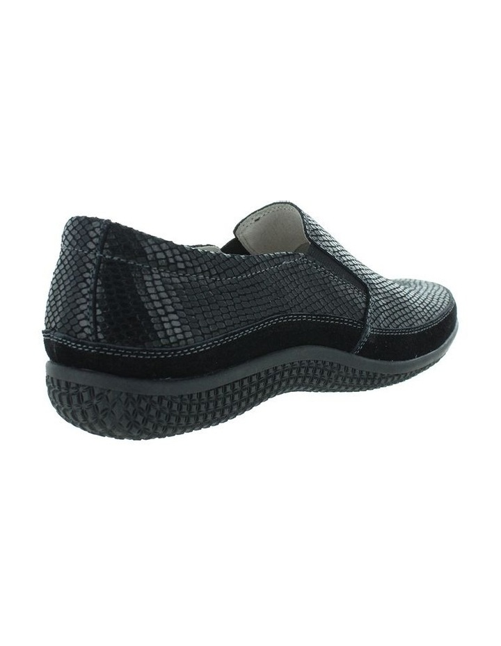 Just Bee Clarice Black Lizard Loafer image 4