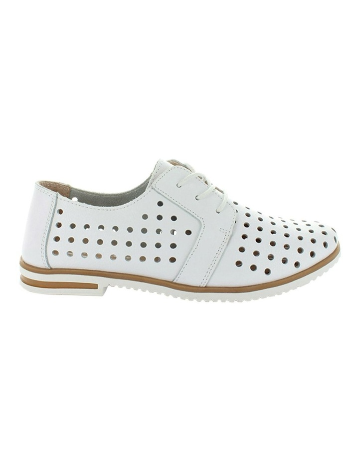 Cavalry White Smooth Flat Shoe image 1