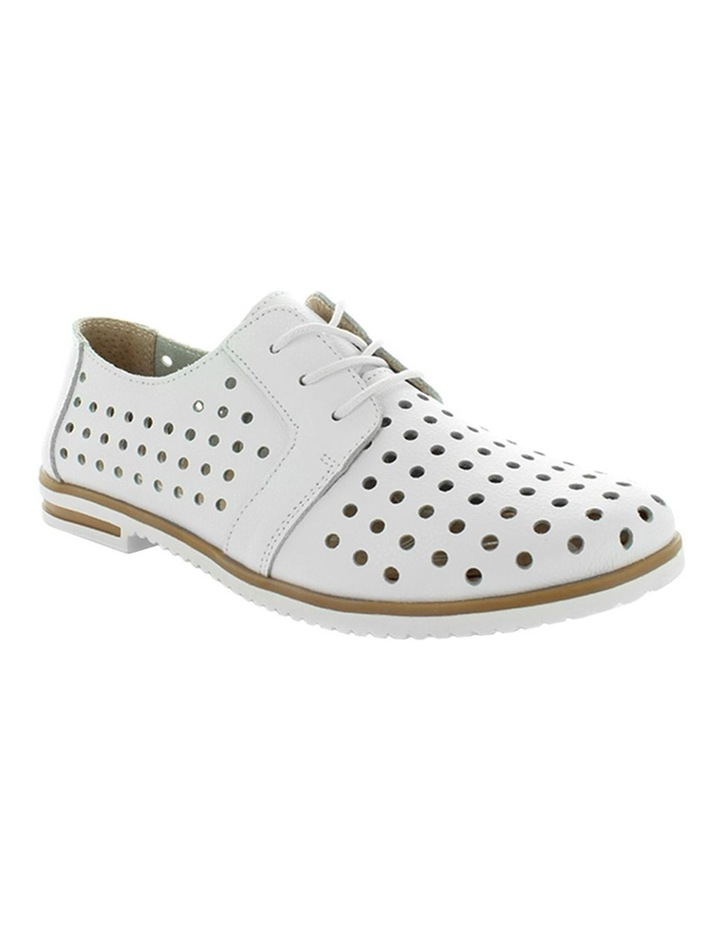 Cavalry White Smooth Flat Shoe image 2