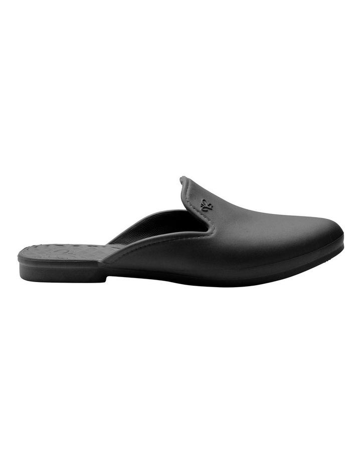 Beach Slipper Black Flat Shoe image 1