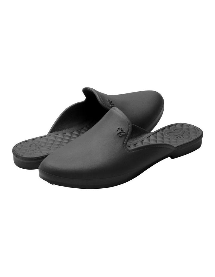 Beach Slipper Black Flat Shoe image 4