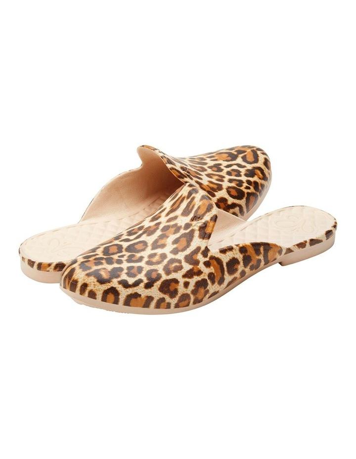 Berts Beach Slipper Leopard Flat Shoe