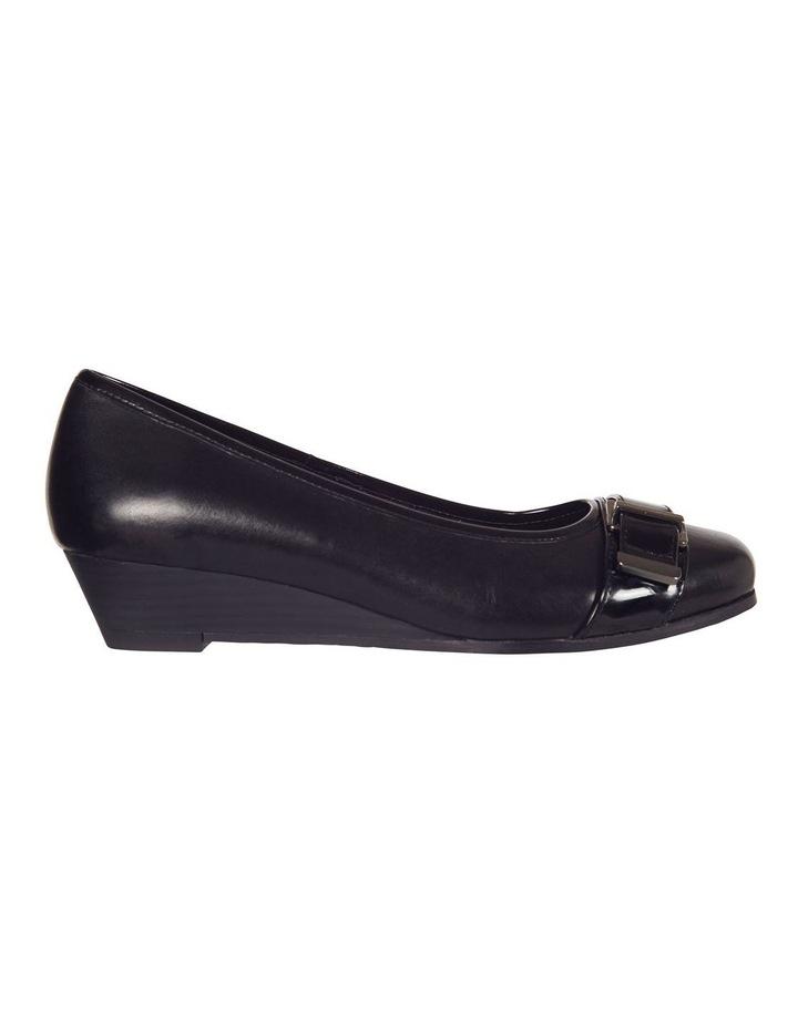 Napier Black Glove/Patent Heeled Shoes image 1