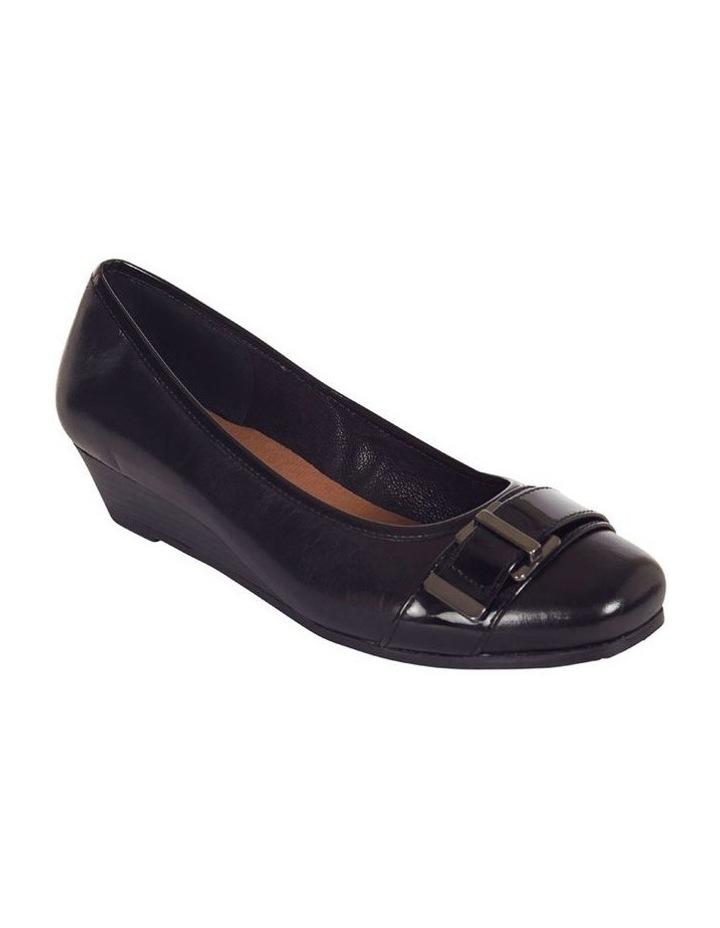 Napier Black Glove/Patent Heeled Shoes image 3