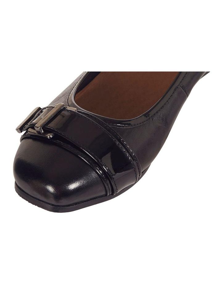 Napier Black Glove/Patent Heeled Shoes image 9