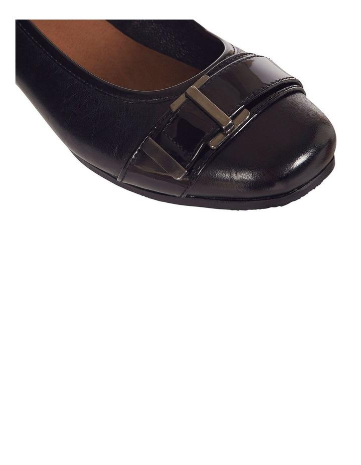 Napier Black Glove/Patent Heeled Shoes image 10