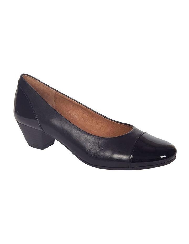 Acton Black Patent/Kid Heeled Shoes image 3