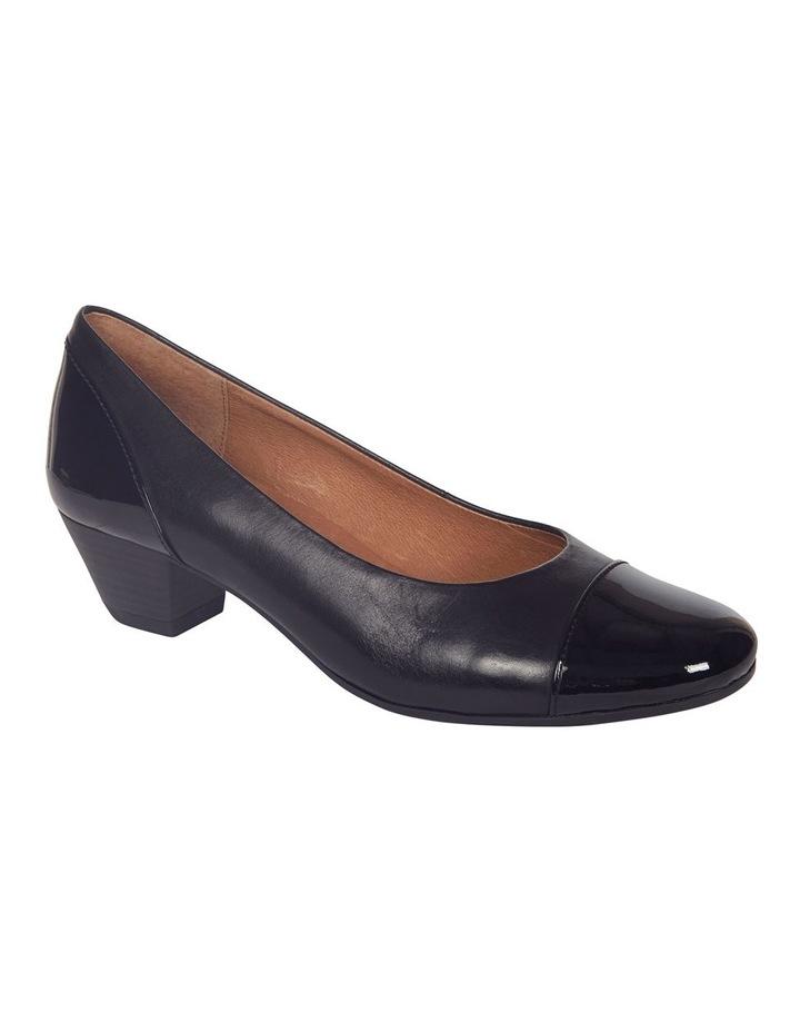Acton Black Patent/Kid Heeled Shoes image 4