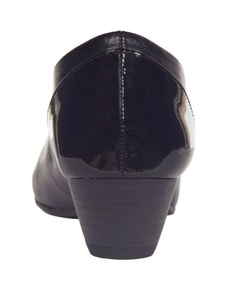Acton Black Patent/Kid Heeled Shoes image 7