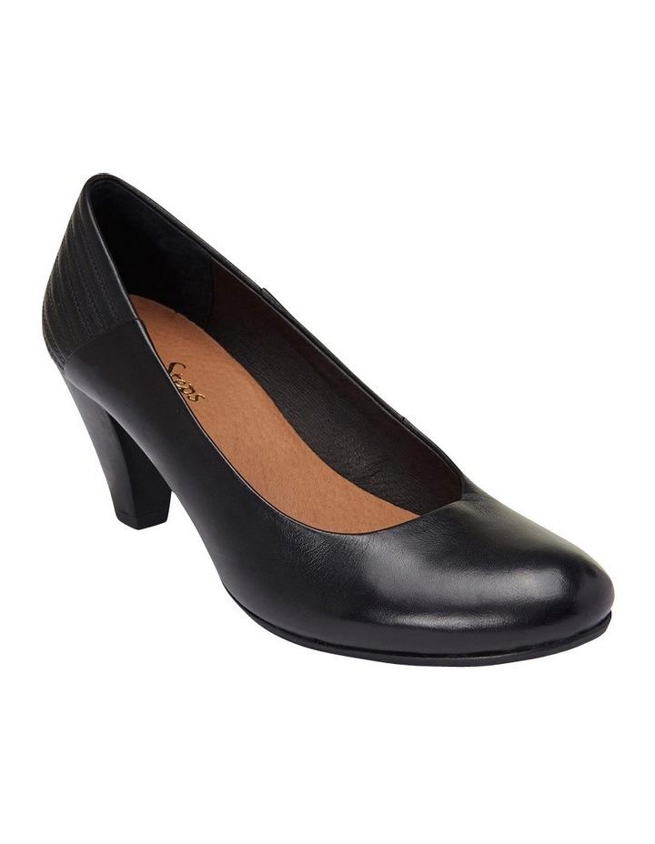 Edina Black Glove Heeled Shoes image 2