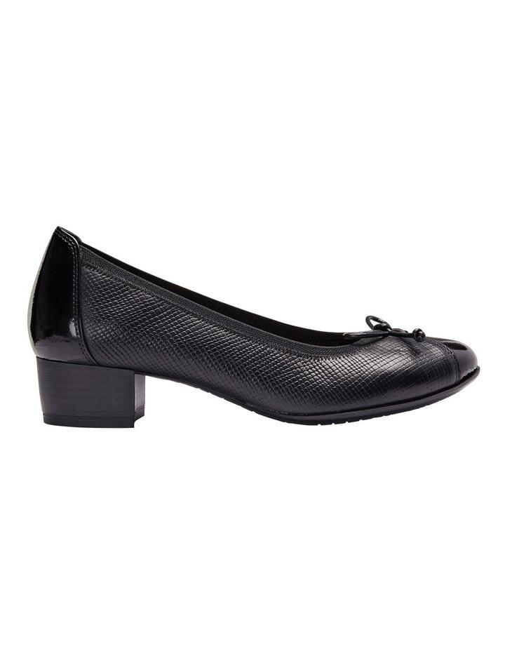 Grace Black Patent/Print Heeled Shoes image 1