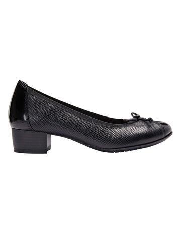 805b3e52ed986 Wide StepsGrace Black Patent Print Heeled Shoes. Wide Steps Grace Black  Patent Print Heeled Shoes