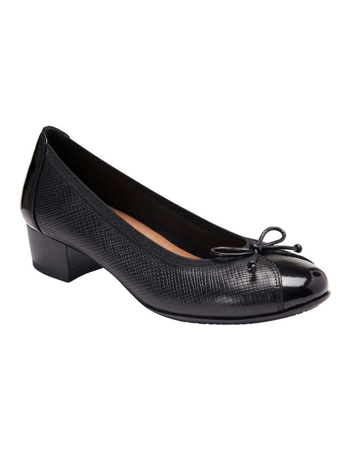 Grace Black Patent/Print Heeled Shoes image 3