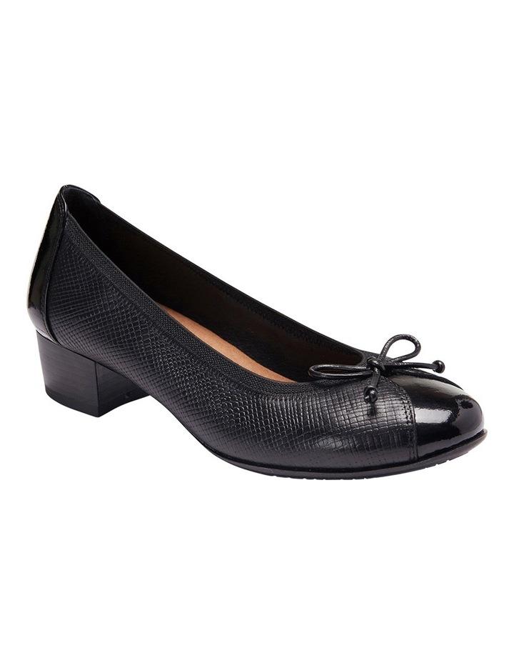 Grace Black Patent/Print Heeled Shoes image 4