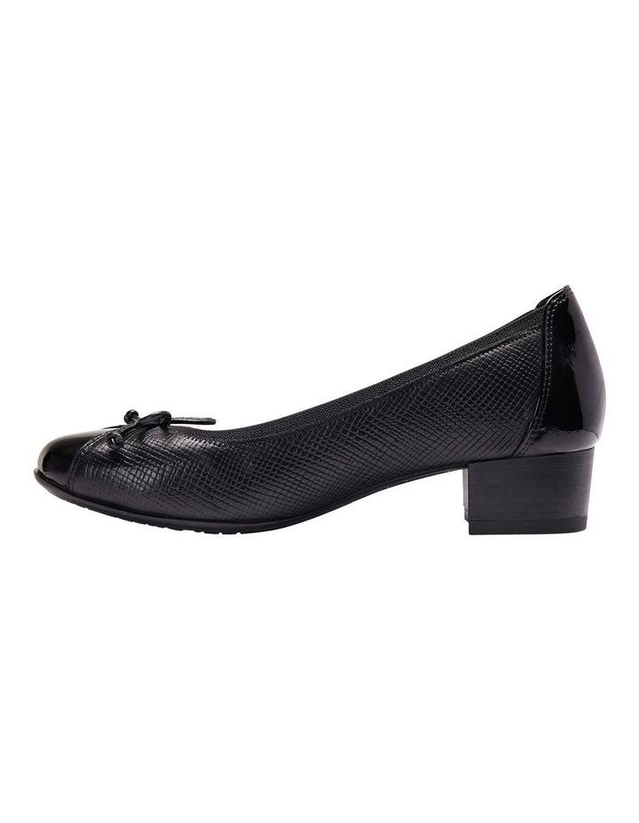 Grace Black Patent/Print Heeled Shoes image 5