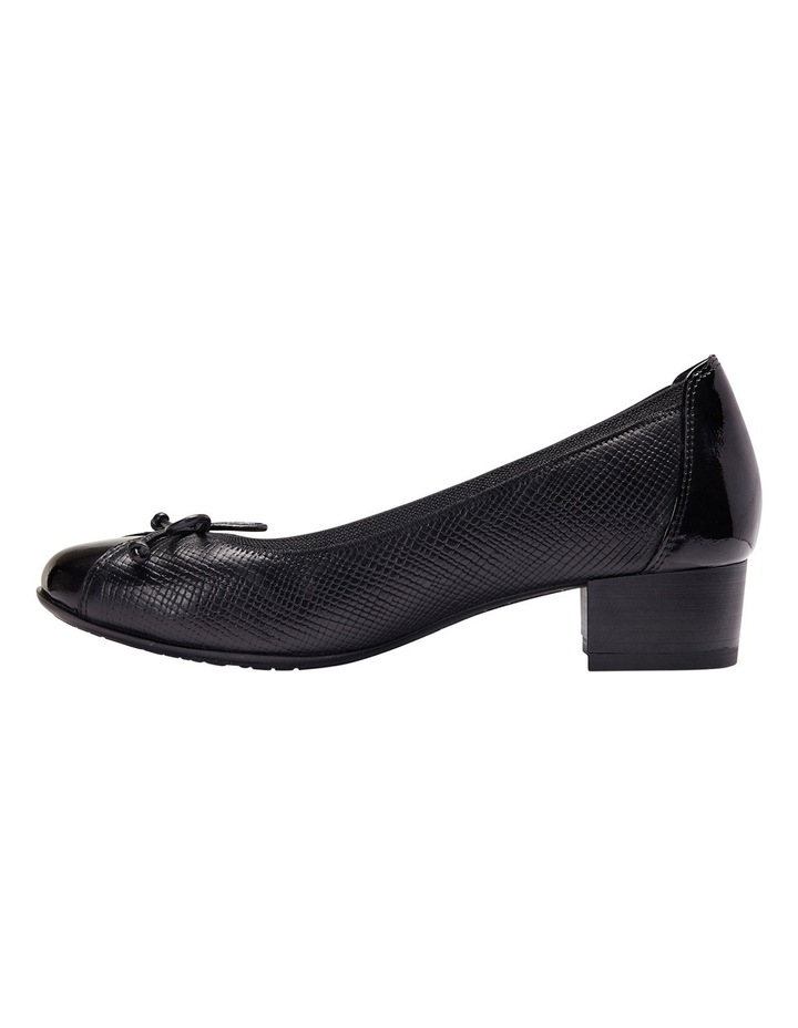 Grace Black Patent/Print Pump image 3