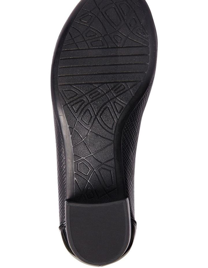 Grace Black Patent/Print Heeled Shoes image 12